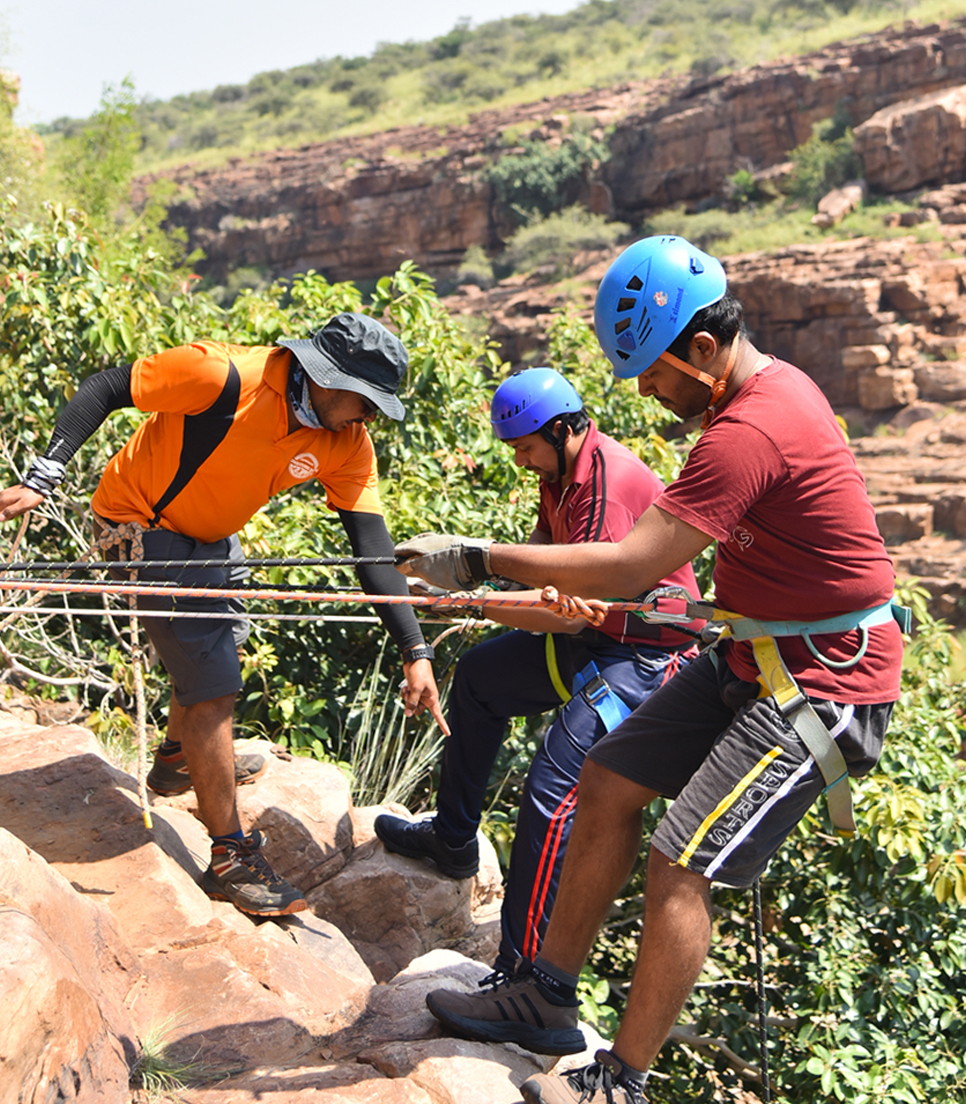 climbing wall in gandikota
