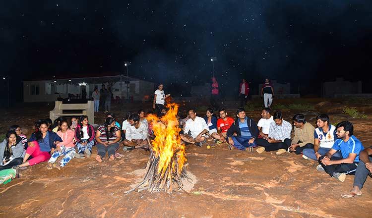 Campfire in Gandikota